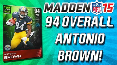 Madden 15 Ultimate Team - 94 Overall Antonio Brown! Team ...