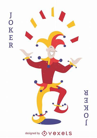 Joker Card Illustration Cards Playing Vector Svg