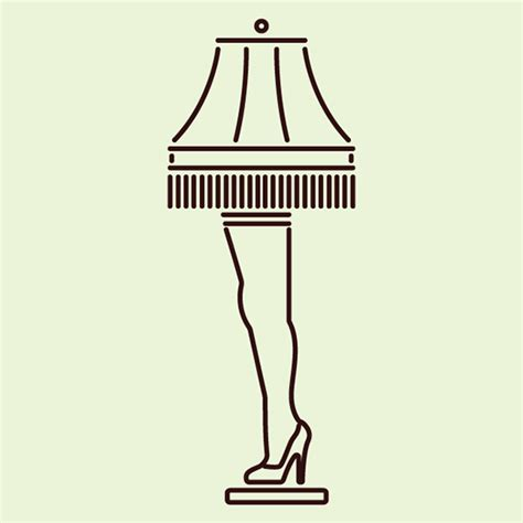 Christmas Story Leg Lamp From A Stencil
