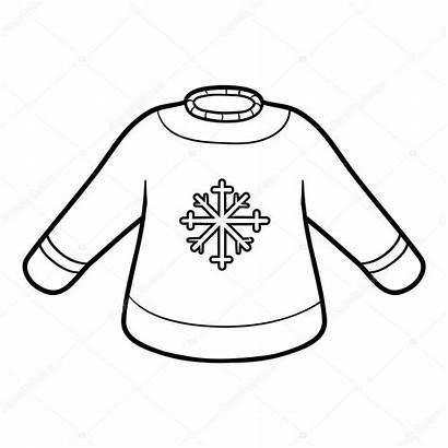 Pullover Coloring Colorare Kolorowanka Sweter Malbuch Sweater