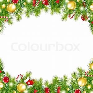Christmas Vintage Border Stock Photo Colourbox