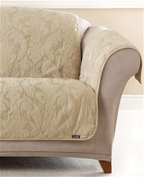 macys sofa covers sure fit matelasse damask pet sofa slipcover slipcovers