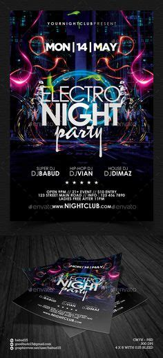 Download Graphicriver Electro Dj Party Flyer Template 6502526 by Deep Club Party Minimal Flyer Template Psd Template