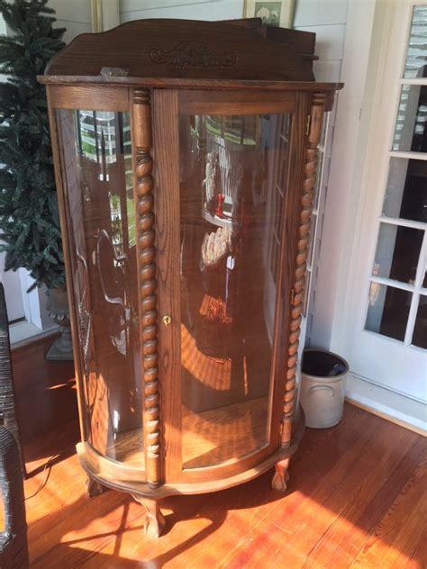 vintage bowfront oak curio cabinet annapolis 21853