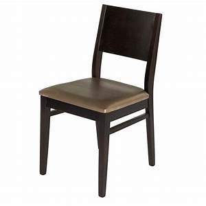 Chaise Bistrot Bois : chaise bistrot bois et assise simili cuir gris gastromastro group sas ~ Teatrodelosmanantiales.com Idées de Décoration
