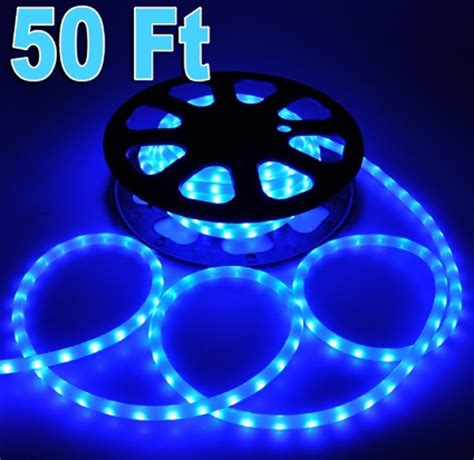 50 blue led rope light outdoor home lighting 110v