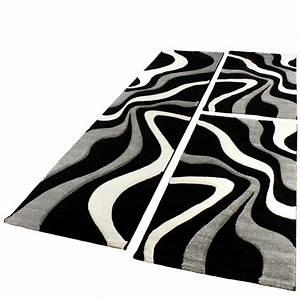 Teppich Flur Läufer : bettumrandung l ufer teppich trendig modern grau schwarz ~ Lateststills.com Haus und Dekorationen