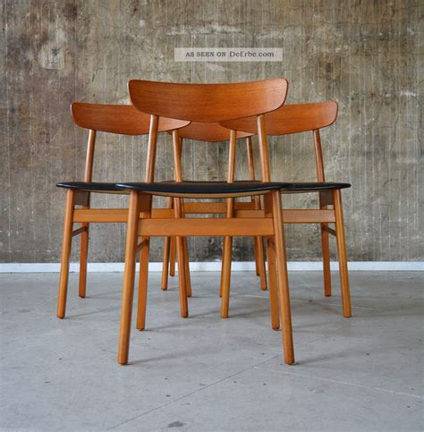 Le 60er Design by 4 60er Teak St 220 Hle Esszimmerst 220 Hle Design 60s