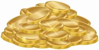 Pile Coins Clipart Transparent Money Yopriceville