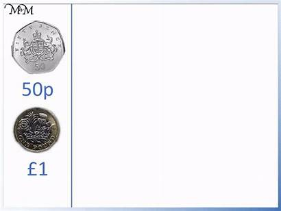 Coins Pound 50p Pounds 100p Pence Worth