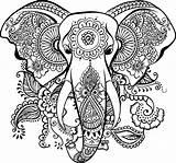 Mandala Elephant Coloring Clipart Dxf Transparent Autocad Elephantidae Drawing Tree Tattoo Maori Gambar Sideburns Stretching Resistance Animal Kisspng Canvas Euclidean sketch template