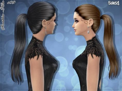 sims  hairs  sims resource straight ponytail
