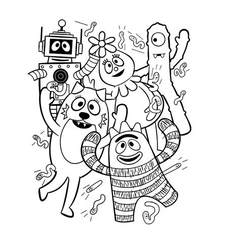yo gabba gabba coloring pages  coloring pages