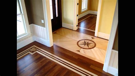 Hardwood Floors With Tile Inlay