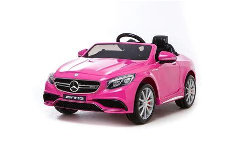pink kid car mercedes s63 amg licensed 12v kids electric car pink