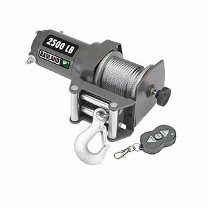 2500 Lb Electric Winch With Wireless Remote Control