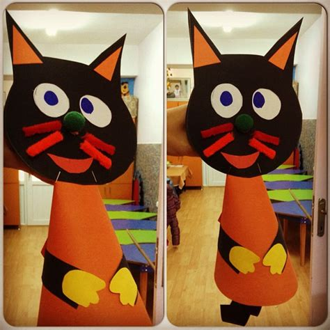 cat craft idea  kids crafts  worksheets