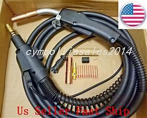 Mig Welding Gun  U0026torch 10 U0026 39  250amp Replacement For Lincoln