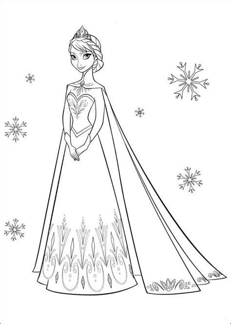 Jurk Kleurplaat by Prinses Elsa In Jurk Kleurplaat