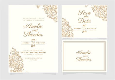 Vector Elegant Wedding Invitation Template Download Free
