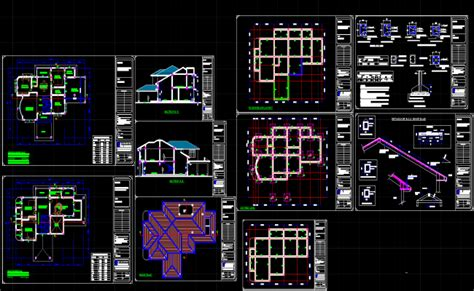 bungalows dwg autocad drawing bungalow drawings