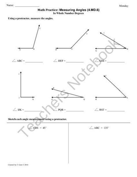 4 md 6 measuring angles 4th grade common math