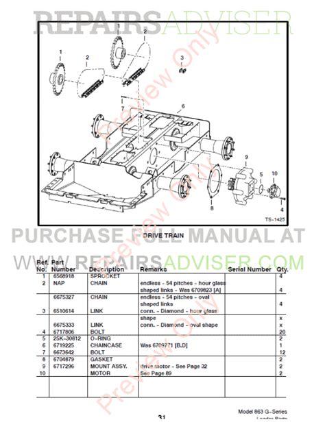 Bobcat 863 Part Diagram by Bobcat 863 G Series Skid Steer Loader Parts Manual Pdf