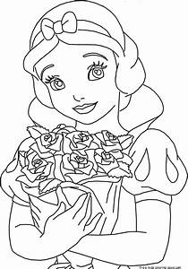 Disney Princess Snow White Coloring PagesFree Printable