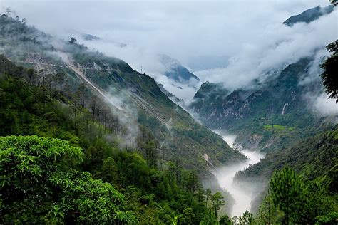 photography nature landscape mountains mist river