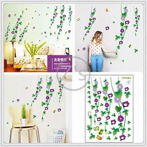 Spanish vinyl flowers wall sticker home decor diy adhesive