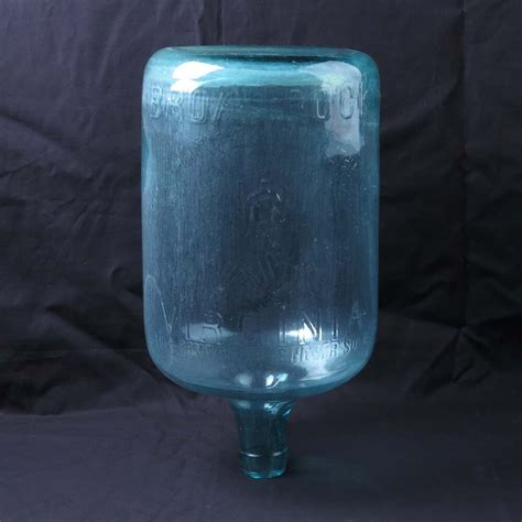 broad rock va water bottle lithia   glass vtg seal
