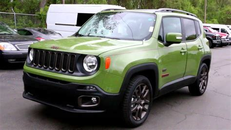 green jeep renegade new 2016 jeep renegade 75th anniversary edition jungle