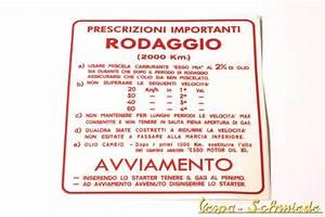 Italienisch Rechnung Bitte : vespa aufkleber einfahrvorschrift italienisch 4 gang ~ Themetempest.com Abrechnung
