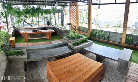 project  rooftop garden desain arsitek oleh  interior