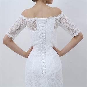 e jue shung white vintage lace cheap mermaid wedding With off the shoulder wedding dresses 2017
