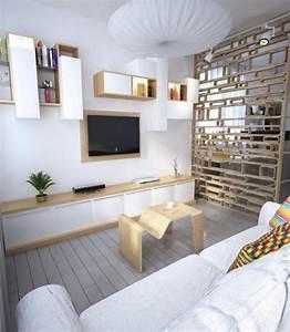Möbel Wohnzimmer Modern : wohnzimmer modern einrichten helles holz weiss moebel raumteiler regale pinterest ~ Buech-reservation.com Haus und Dekorationen