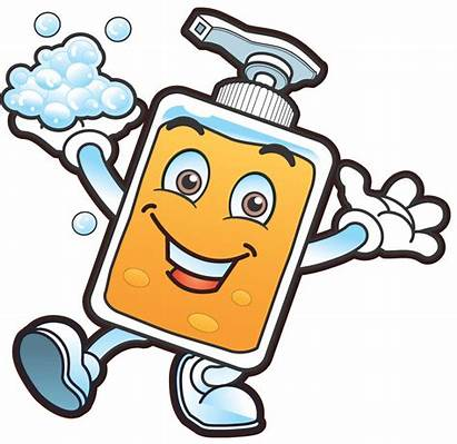 Washing Hand Clip Clipart Germs Cleaning Clean