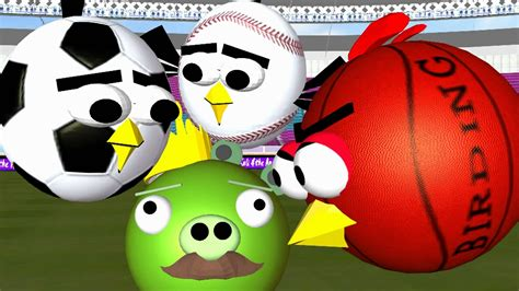 Ball Games With The Angry Birds ♫ 3d Animated Spoof