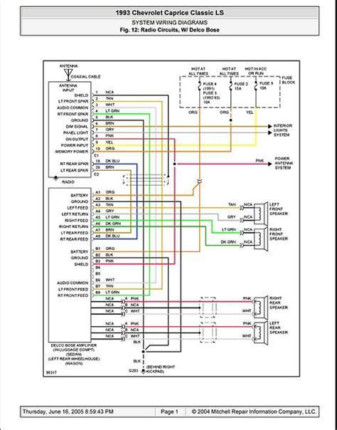 Manual System Wiring Diagrams Radio Circuits Delco