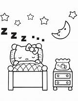 Coloring Bedroom Pages Sleeping Colouring Baby Kitty Hello Printable Template Sleep Furniture Print Azcoloring Cute Az Kittens Popular Coloringhome Hmcoloringpages sketch template