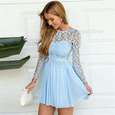 sleeve light blue dress a line neck sleeves light blue chiffon