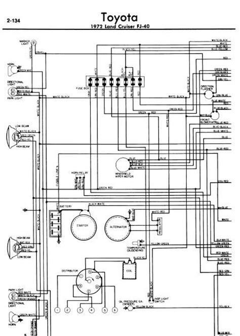 toyota land cruiser fj40 1972 wiring diagrams