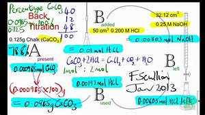 How To Do Back Titrations