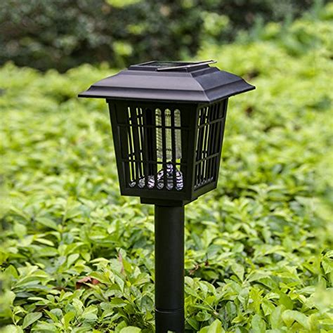solar bug lights yier solar powered outdoor insect bug zapper
