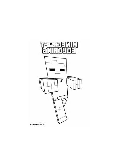 Minecraft Coloring Pages Tnt Herobrine Drawing Printable