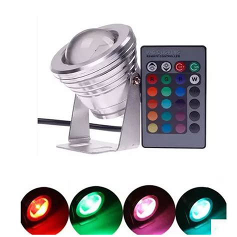 16 colors changing led ground light rgb 10w dc12v led spot