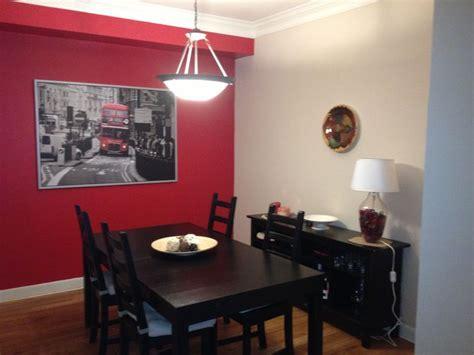 red dining room bam pintura interior casa decoracion