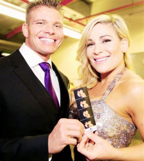Tyson Kidd Natalya At The Wwe Hall Of Fame Ceremony
