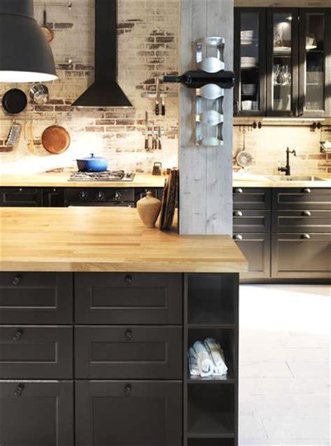 facades cuisine ikea cuisine noir bois aux façades noires cuisine ikea