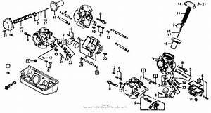 Carburetor Comp  Parts For 1986 Honda Vf700